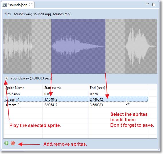 Audio Sprites editor