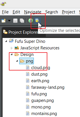 Select files to optimize
