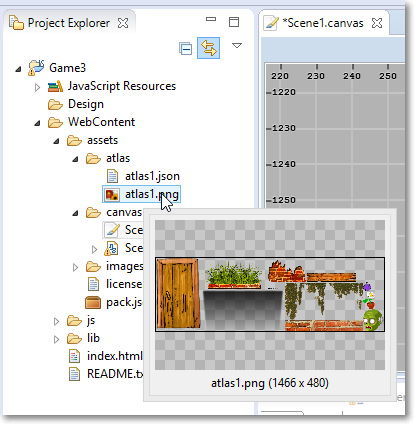 Project Explorer preview image file