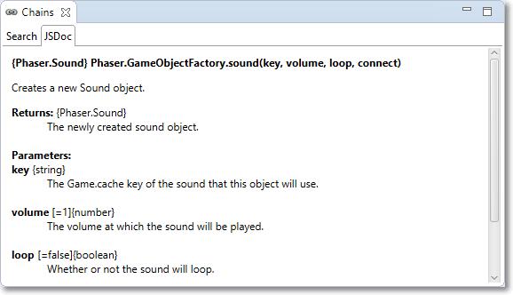Chains: JSDoc tab