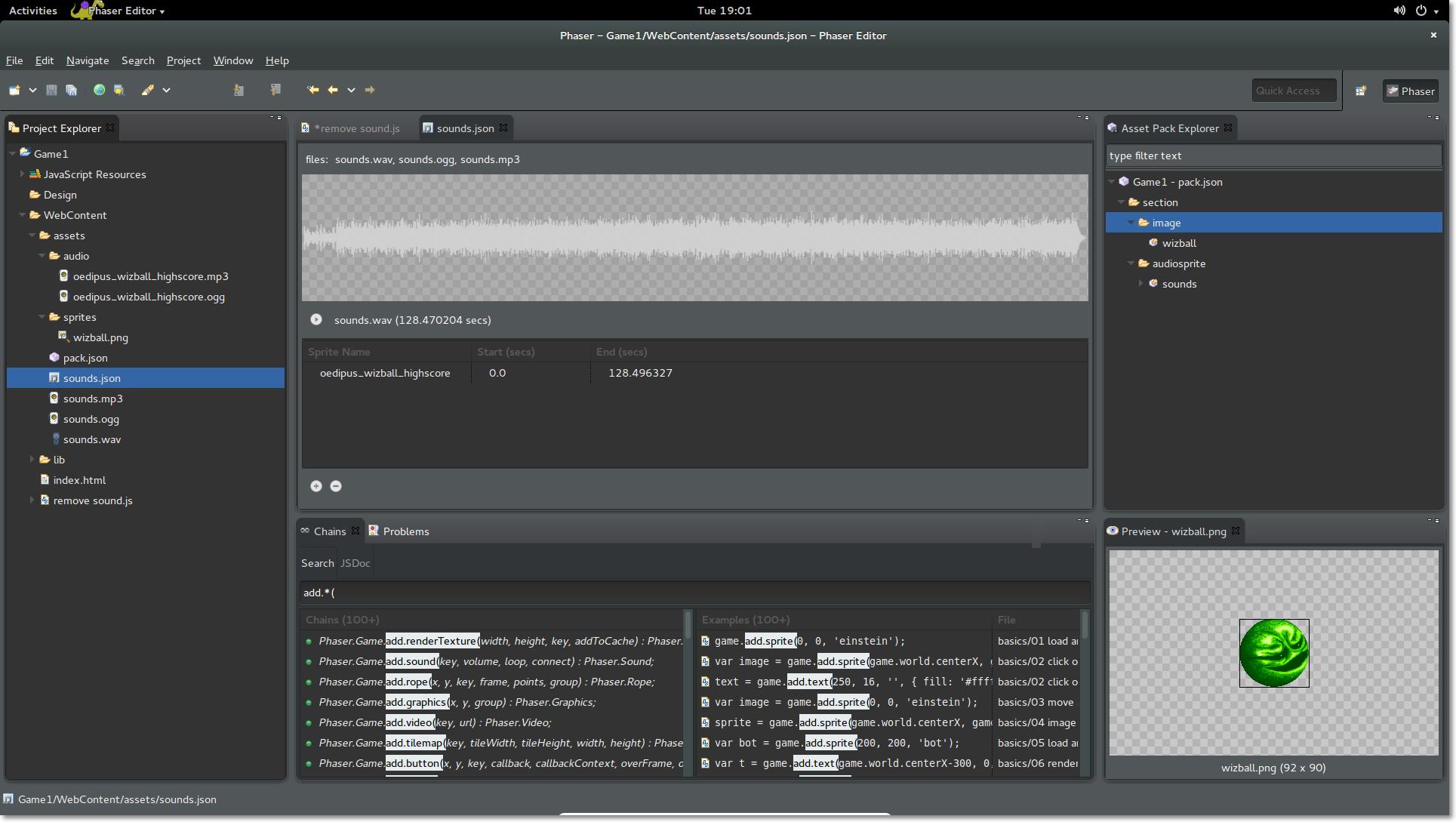 phaser editor key