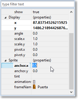 Edit sprite property