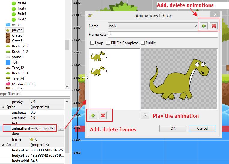 Animations editor