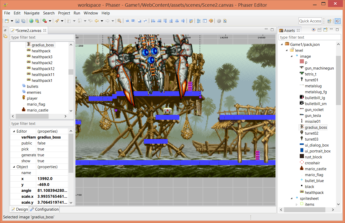 Phaser Editor scene