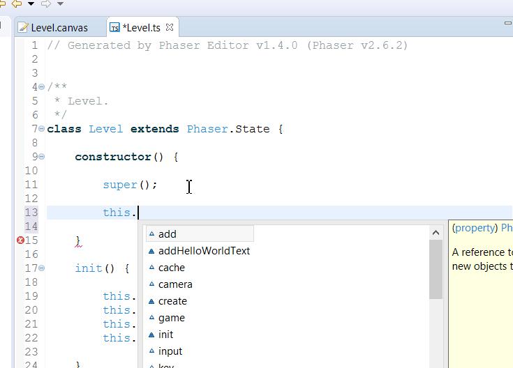 TypeScript editor