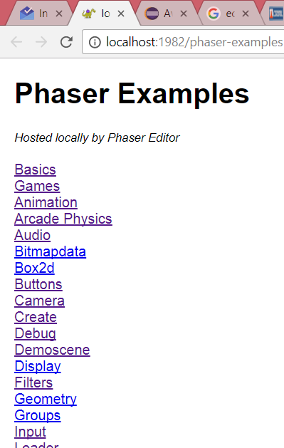 Index of the Local Examples Website