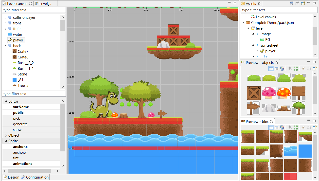 Official tutorial: Make a Mario-Style Platformer with the Phaser Editor (Updated)