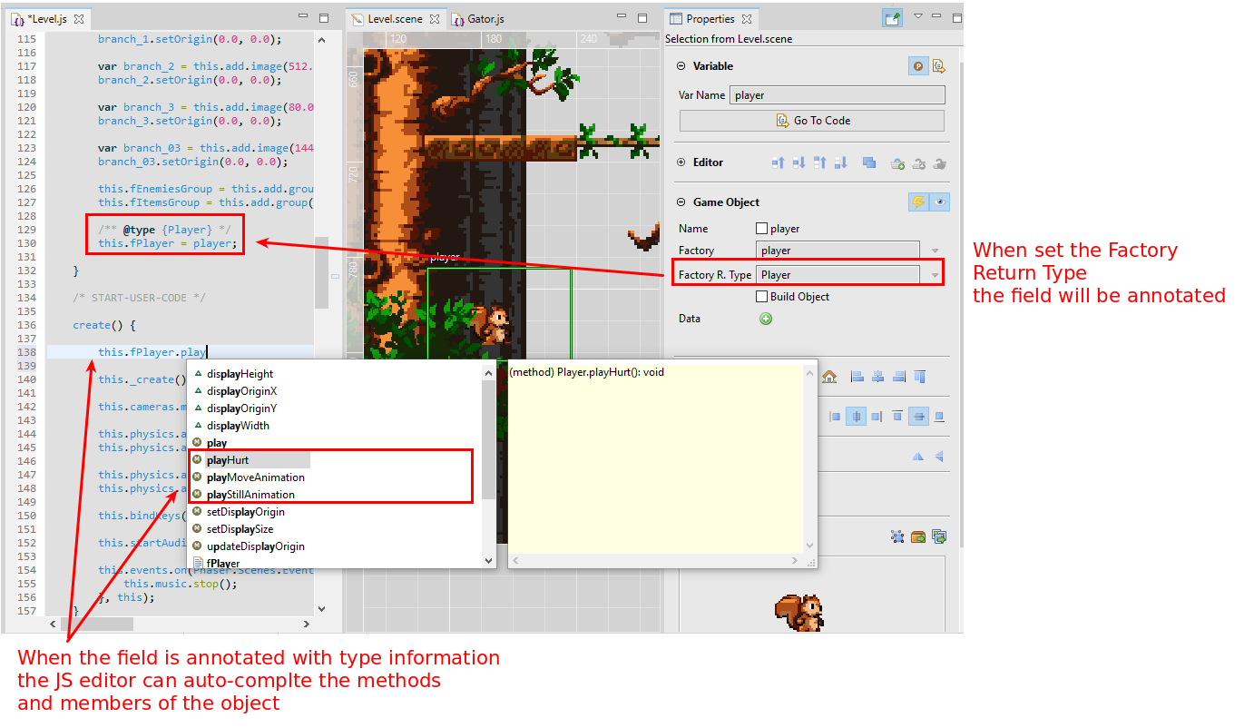 Commenting the Sunny Land Woods demo (Tutorial) - Phaser Editor Blog